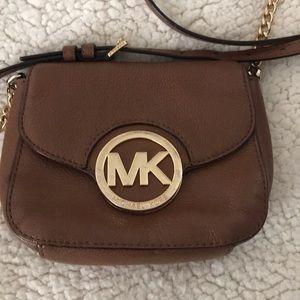 Michael Kors cross body brown purse